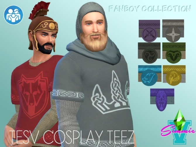Sims 4 TESV Layered Cosplay Teez by SimmieV at TSR