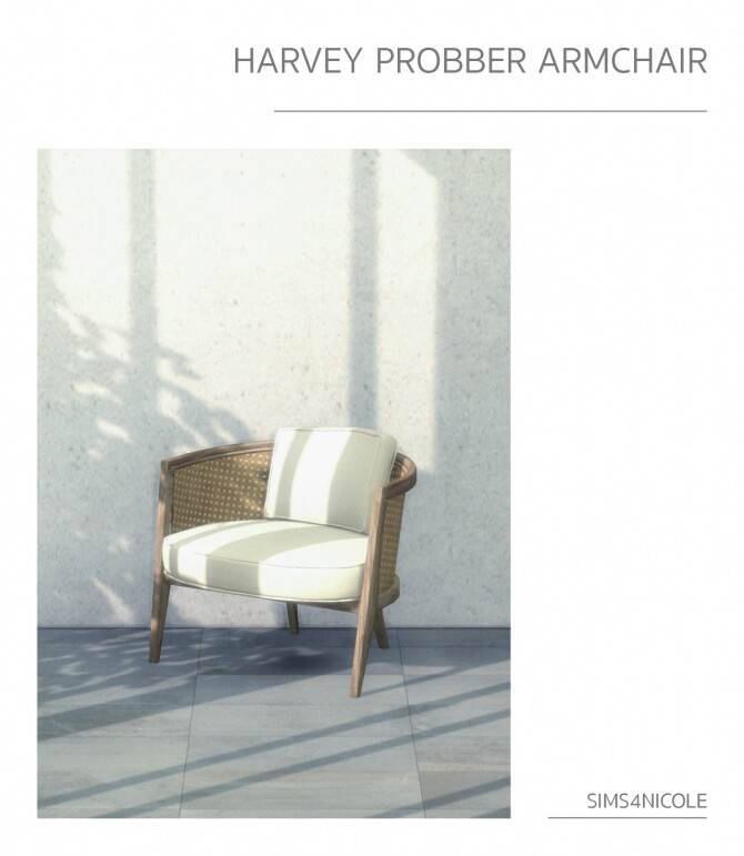 Harvey probber armchair & wooden stool at Sims4Nicole image 2438 670x771 Sims 4 Updates