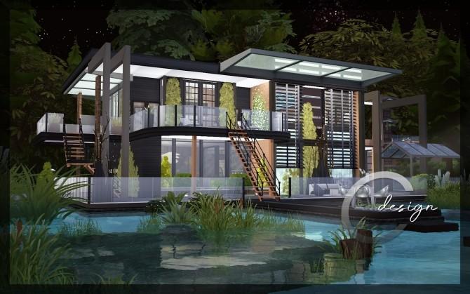 Modern Lake Estate at Cross Design image 2445 670x419 Sims 4 Updates