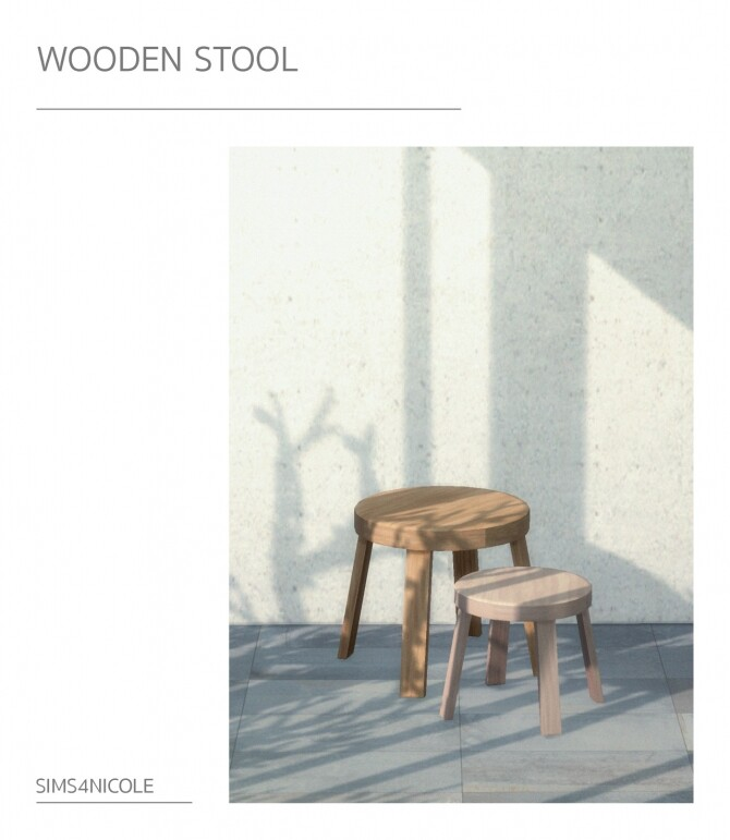 Sims 4 Harvey probber armchair & wooden stool at Sims4Nicole