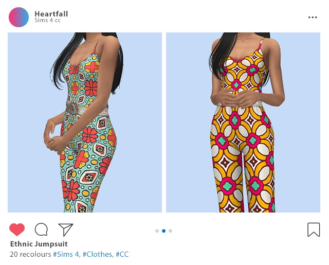 Sims 4 Ethnic jumpsuit at Heartfall