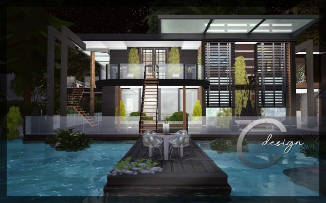 Modern Lake Estate at Cross Design image 2455 670x419 Sims 4 Updates