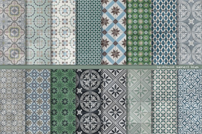 Traditional Cement Tiles at Alexpilgrim image 2462 670x444 Sims 4 Updates