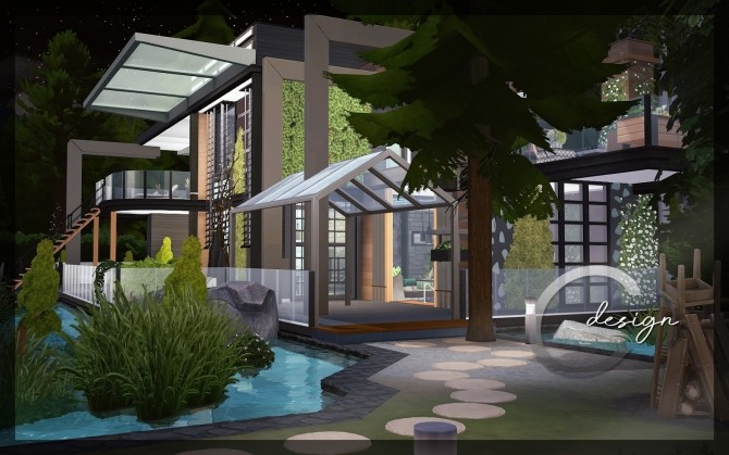 Modern Lake Estate at Cross Design image 2465 670x419 Sims 4 Updates