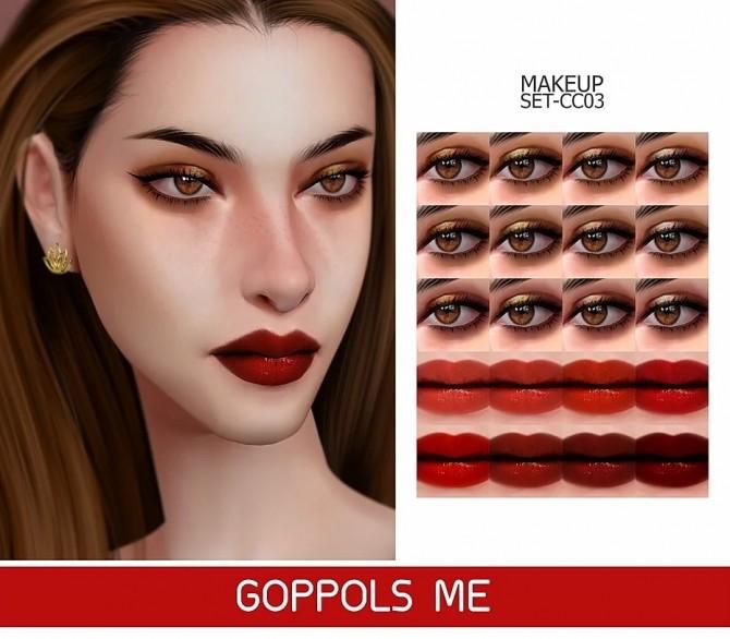 GPME GOLD MAKEUP SET CC03 at GOPPOLS Me image 2471 670x586 Sims 4 Updates