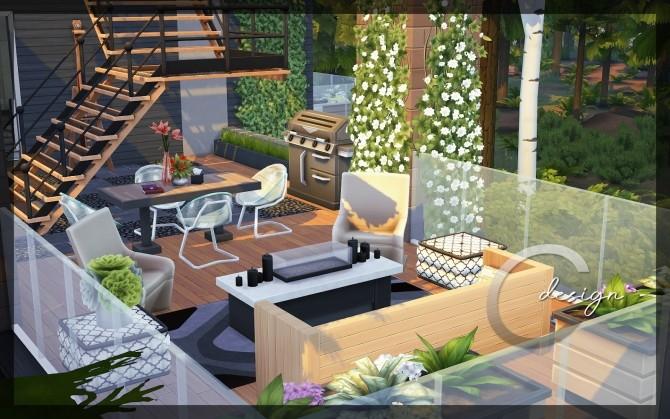Sims 4 Modern Lake Estate at Cross Design