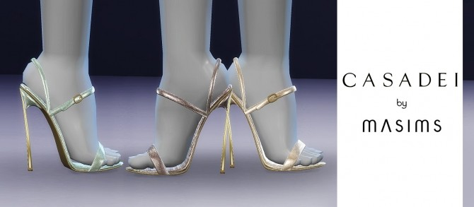 Sims 4 Blade Glitter Sandals at MASIMS