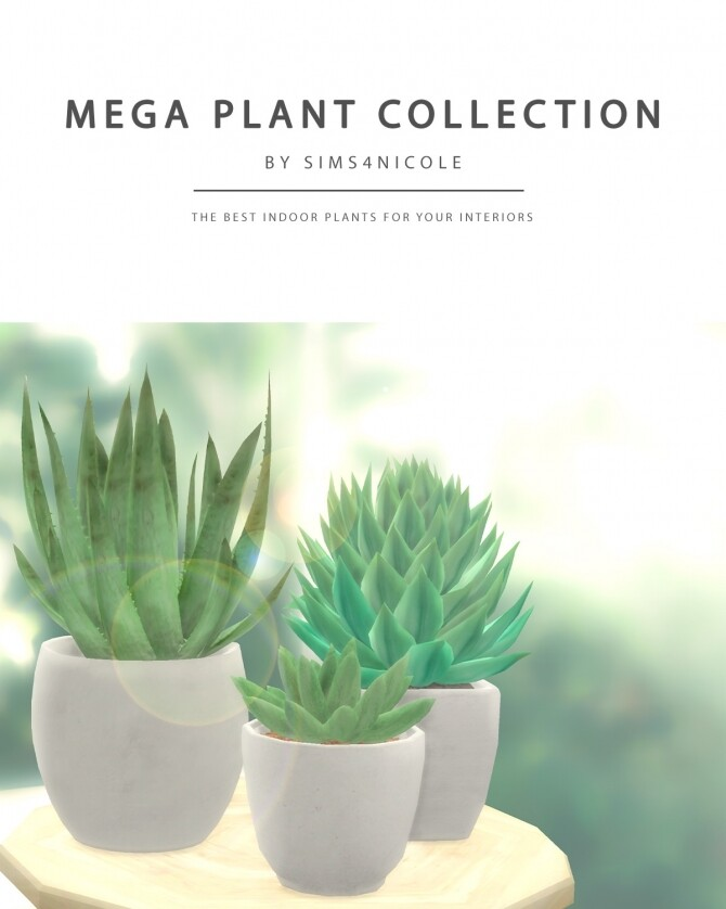 Sims 4 Mega Plant Collection at Sims4Nicole