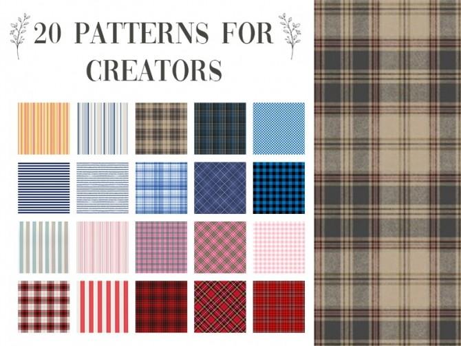 Sims 4 20 patterns set n°2 at Celinaccsims