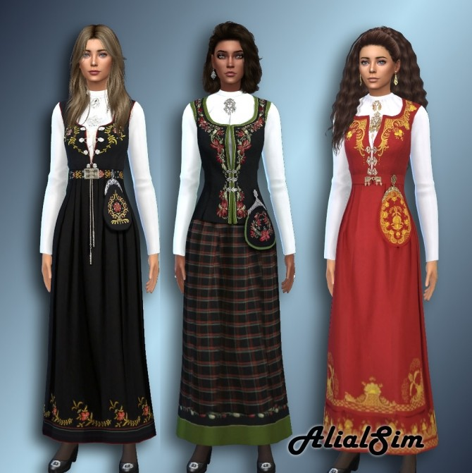 Sims 4 Norwegian Bunad F at Alial Sim