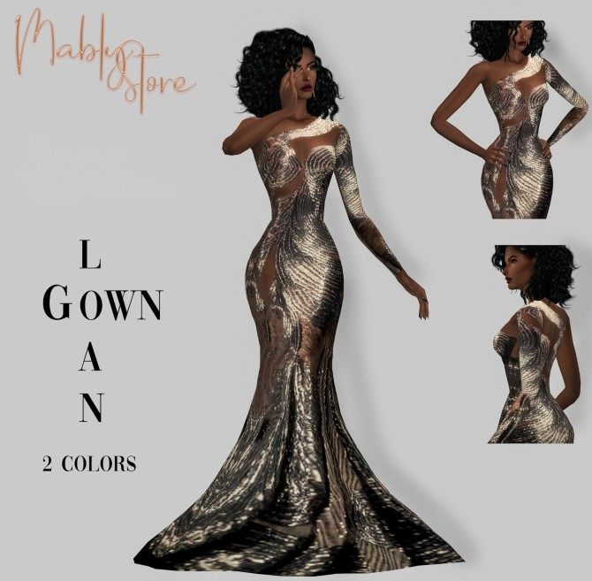 LOAN GOWN at Mably Store image 2583 670x657 Sims 4 Updates