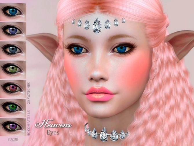 Sims 4 Heavens Eyes by Suzue at TSR