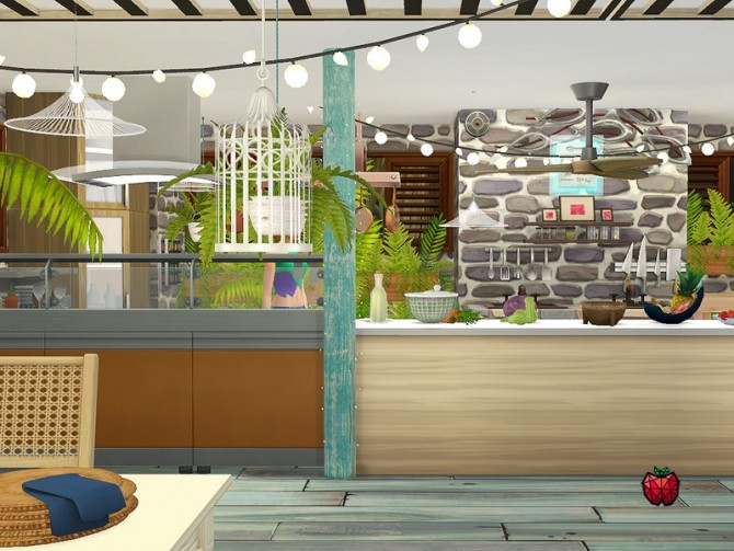 Sims 4 Clementine restaurant by melapples at TSR