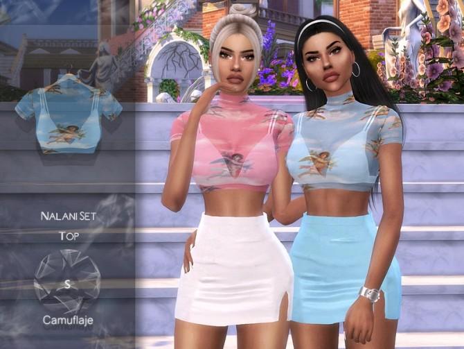 Sims 4 Nalani Set (Top) by Camuflaje at TSR
