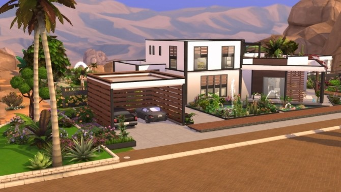 Sims 4 Flora house by Bloup at Sims Artists