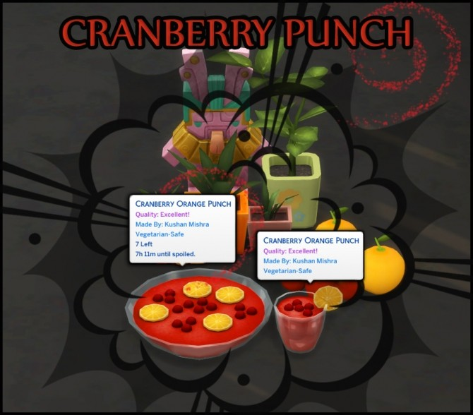 Sims 4 CRANBERRY ORANGE PUNCH at Icemunmun