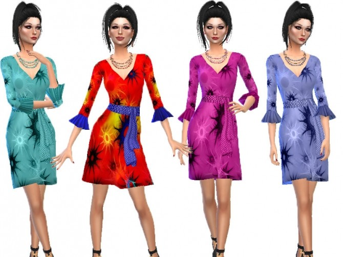 Frill sleeve dress by TrudieOpp at TSR image 2730 670x503 Sims 4 Updates