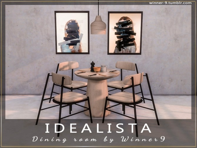 Idealista Dining Room by Winner9 at TSR image 2811 670x503 Sims 4 Updates