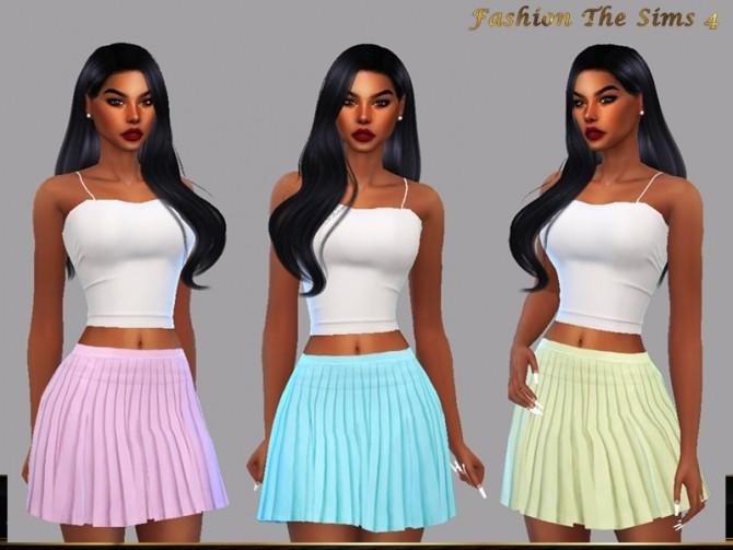 Sims 4 Skirt Janaina by LYLLYAN at TSR