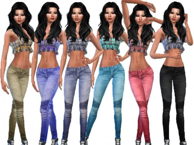Sims 4 Denim pants 1 by TrudieOpp at TSR