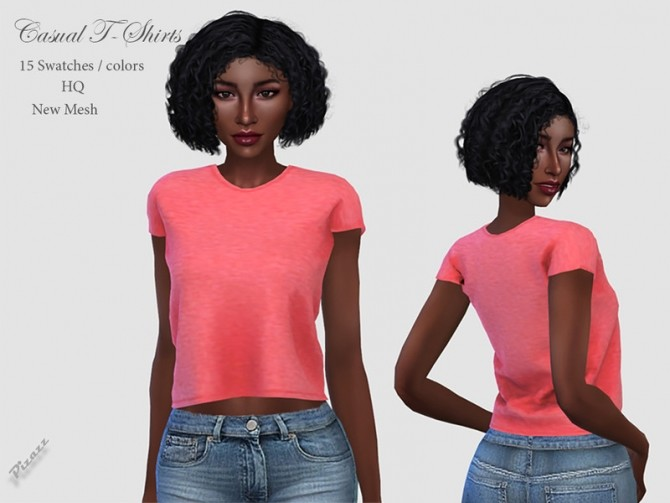 Casual T Shirts by pizazz at TSR image 2830 670x503 Sims 4 Updates