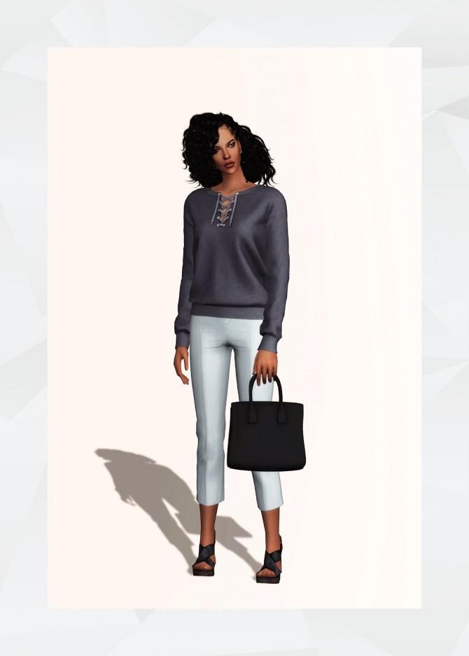 Sims 4 Lace Up Sweatshirt at Gorilla