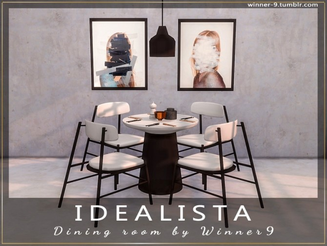 Sims 4 Idealista Dining Room by Winner9 at TSR