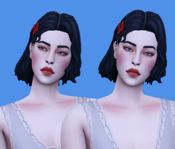Sims 4 FM MM cherry hair & hairpin at Bedisfull – iridescent