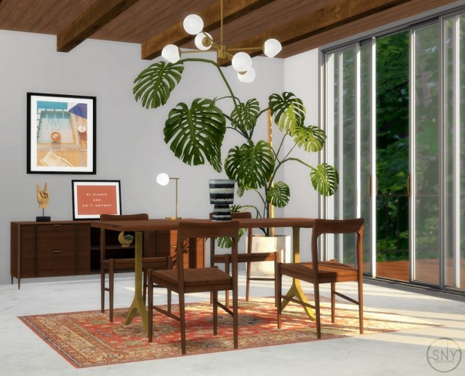 Sims 4 Skog dining set at Sanoy Sims