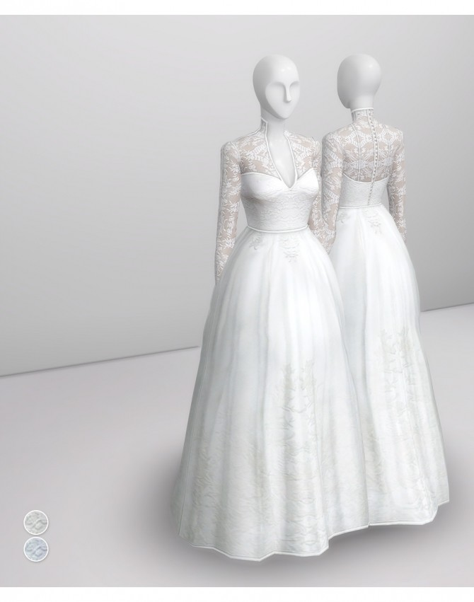 Sims 4 Catherine of England Dress at Rusty Nail