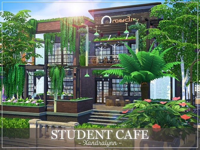 Sims 4 Student Cafe by Xandralynn at TSR