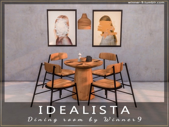 Idealista Dining Room by Winner9 at TSR image 307 670x503 Sims 4 Updates