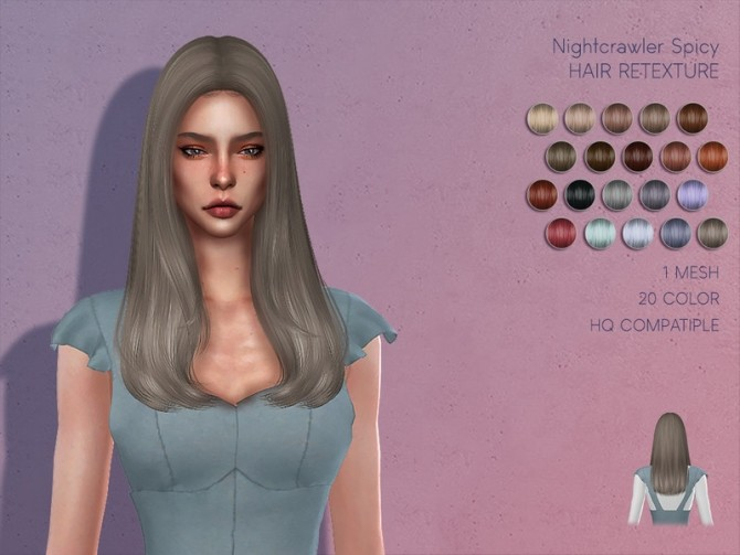 Sims 4 LMCS Nightcrawler Spicy Hair Retexture by Lisaminicatsims at TSR