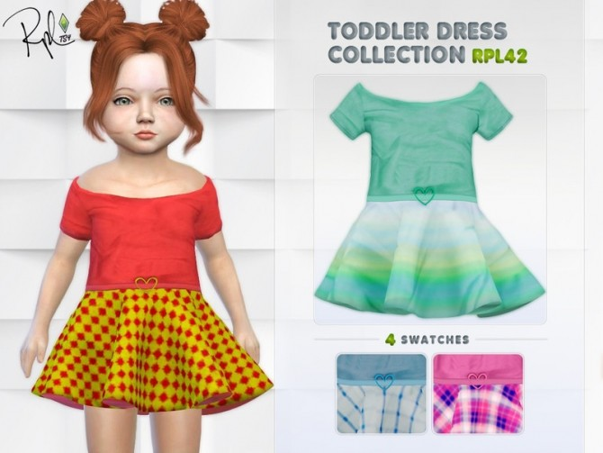 Sims 4 Toddler Dress Collection RPL42 by RobertaPLobo at TSR