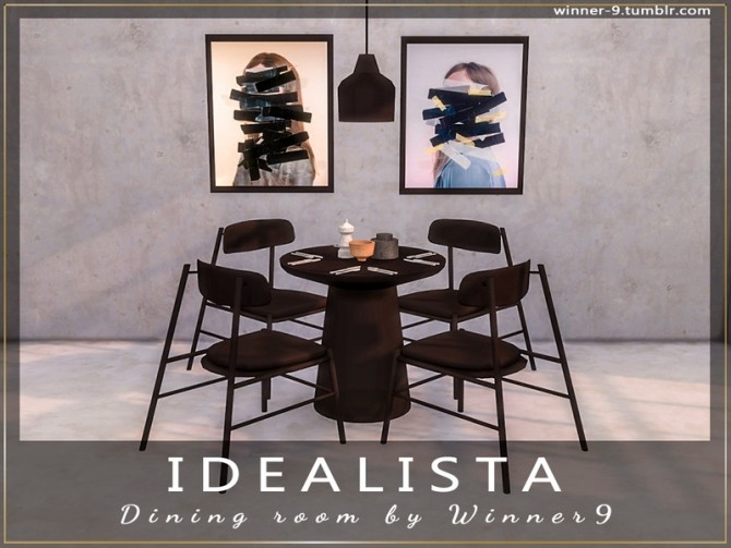 Idealista Dining Room by Winner9 at TSR image 313 670x503 Sims 4 Updates