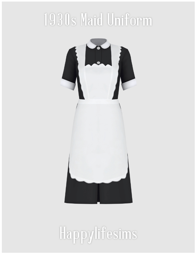 1930s Maid Uniform Set at Happy Life Sims image 3251 Sims 4 Updates