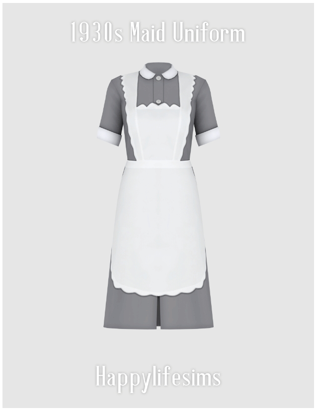 1930s Maid Uniform Set at Happy Life Sims image 3261 Sims 4 Updates