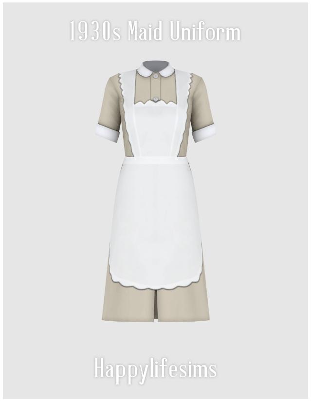 1930s Maid Uniform Set at Happy Life Sims image 3271 Sims 4 Updates
