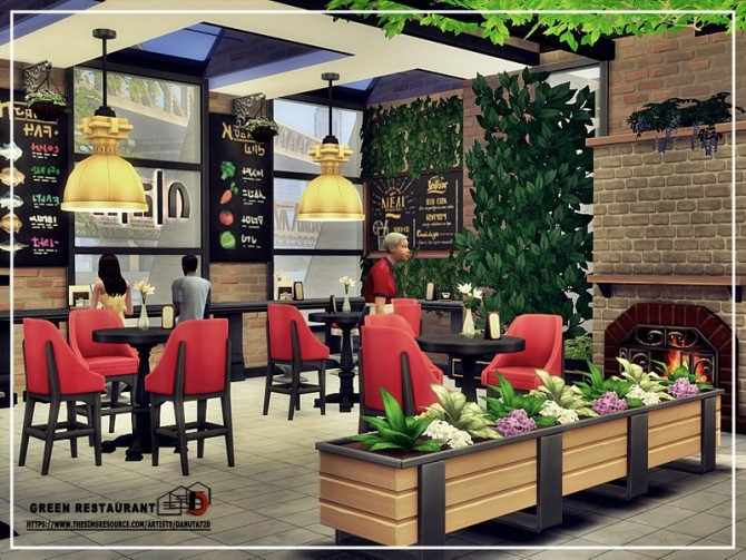 Sims 4 Green Restaurant by Danuta720 at TSR