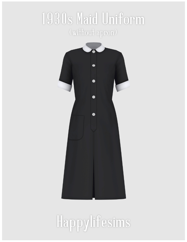 1930s Maid Uniform Set at Happy Life Sims image 3291 Sims 4 Updates