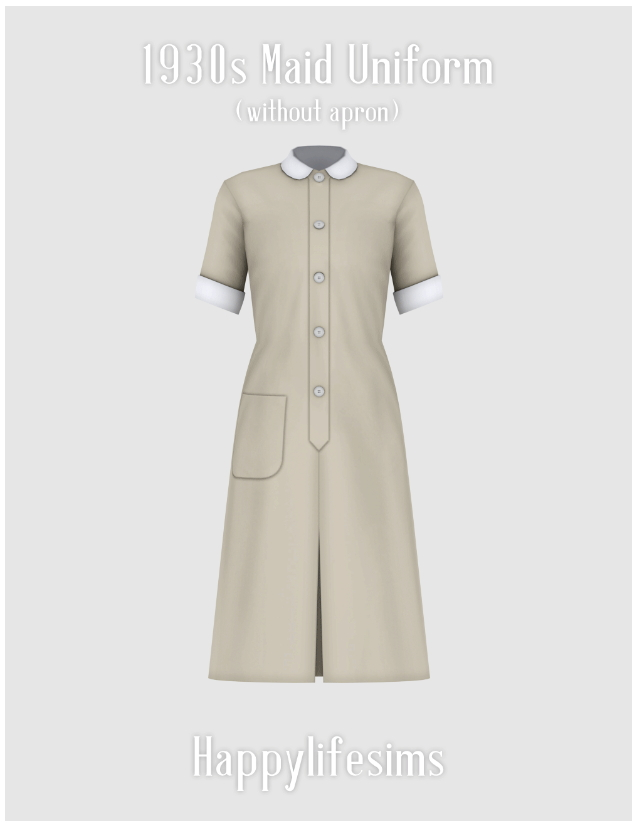 1930s Maid Uniform Set at Happy Life Sims image 3301 Sims 4 Updates