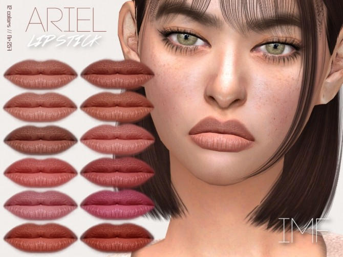 Sims 4 IMF Ariel Lipstick N.257 by IzzieMcFire at TSR
