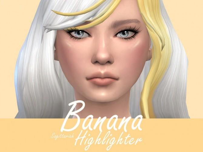 Banana Highlighter by Sagittariah at TSR image 3315 670x503 Sims 4 Updates