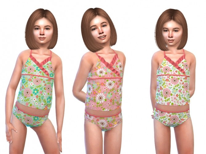 Sims 4 Tankini for Girls 01 by Little Things at TSR
