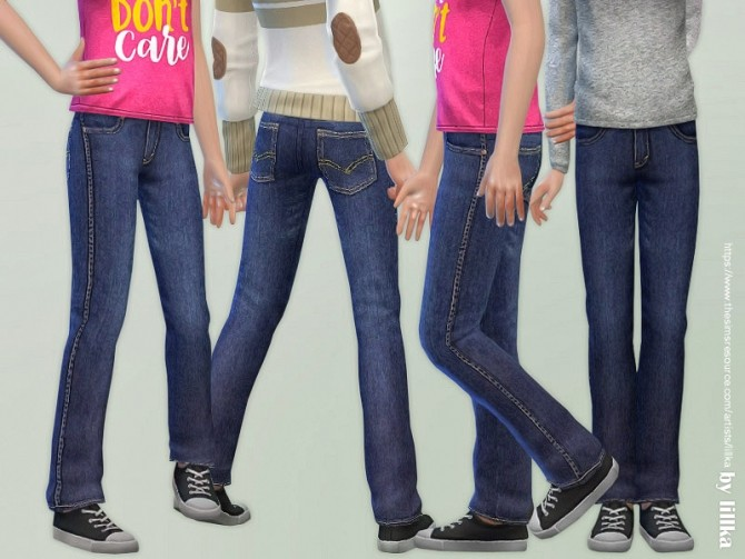 Casual Jeans for Children 04 by lillka at TSR image 3410 670x503 Sims 4 Updates