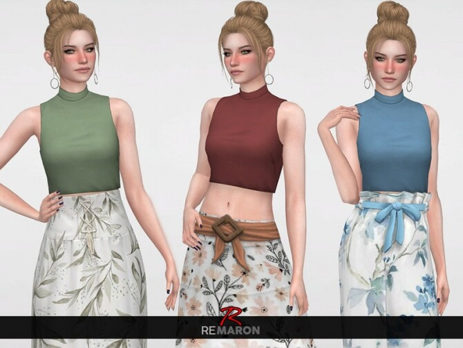 Sims 4 Turtleneck Top 01 for Women by remaron at TSR