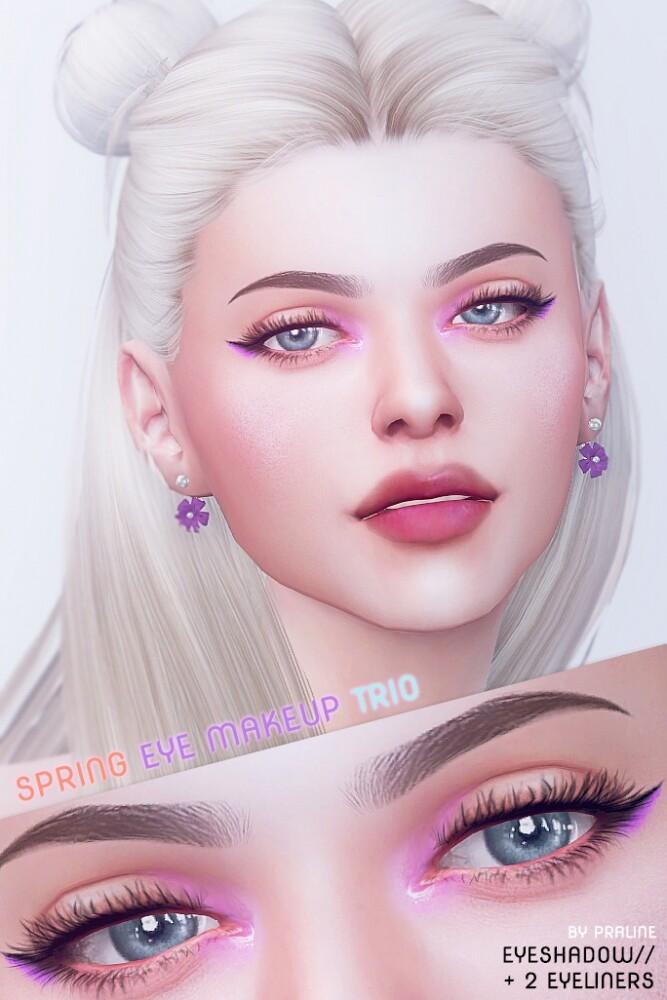 Spring make up trio: eyeshadow + 2 eyeliners at Praline Sims image 3461 667x1000 Sims 4 Updates