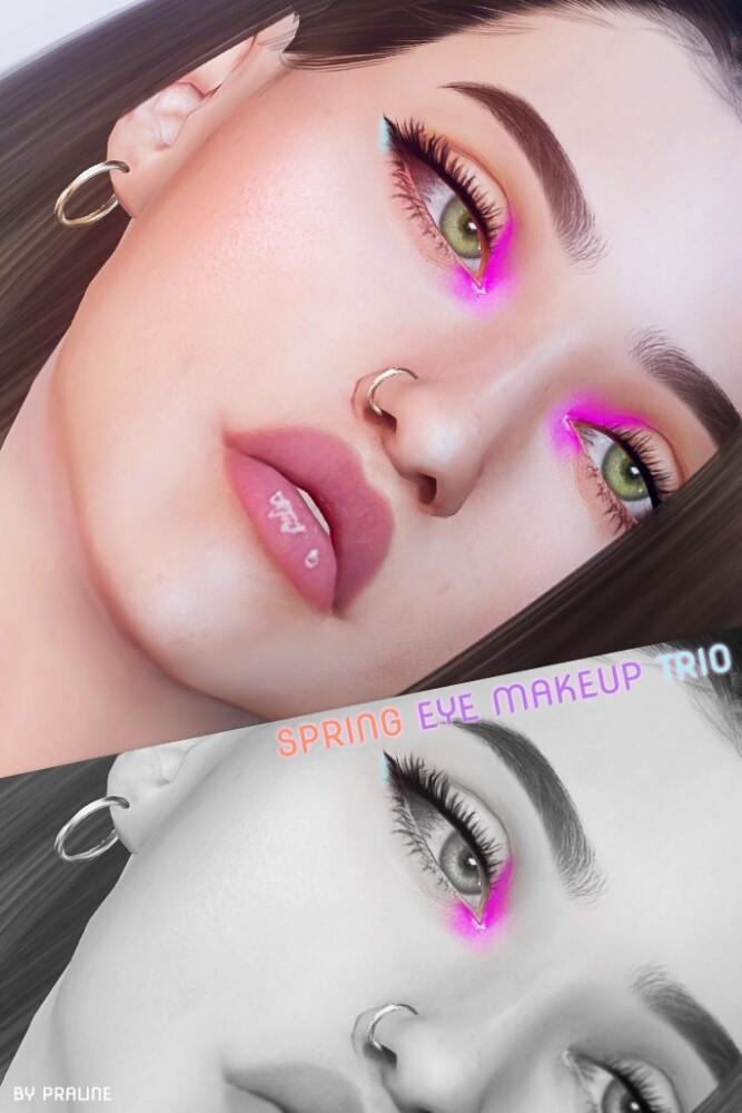 Spring make up trio: eyeshadow + 2 eyeliners at Praline Sims image 3471 667x1000 Sims 4 Updates