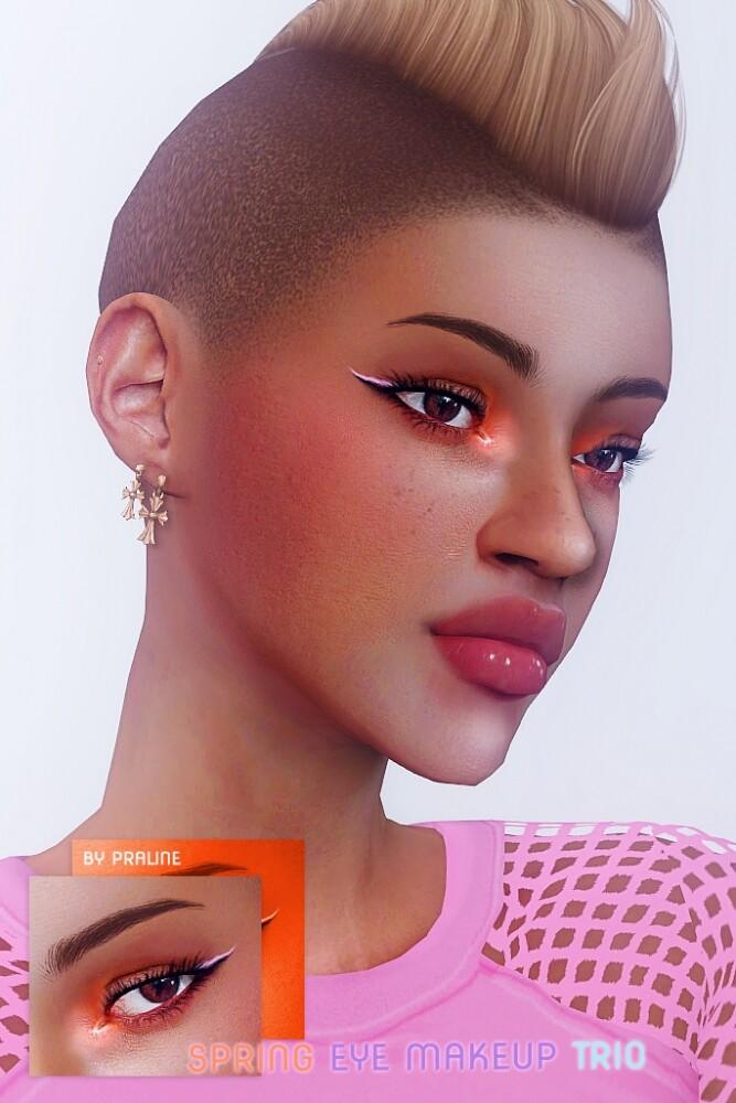Spring make up trio: eyeshadow + 2 eyeliners at Praline Sims image 3481 667x1000 Sims 4 Updates