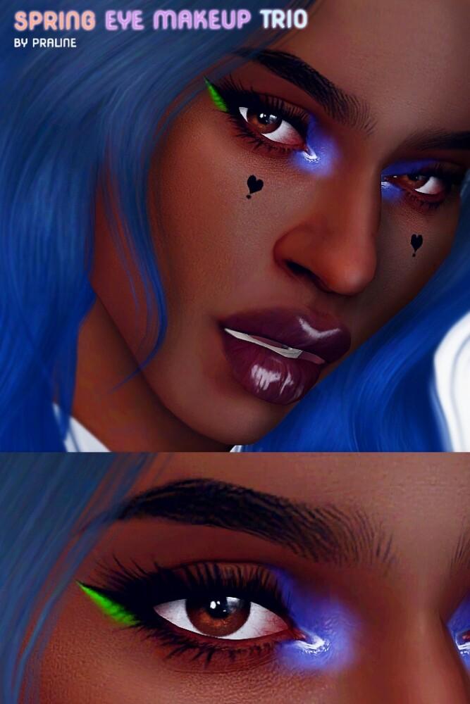 Spring make up trio: eyeshadow + 2 eyeliners at Praline Sims image 3491 667x1000 Sims 4 Updates